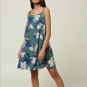NWT O'Neill Green Floral Azalea Dress